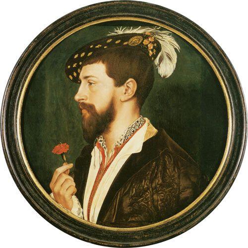 Titre de l'image : Hans Holbein le Jeune - Portrait of Simon George of Cornwall