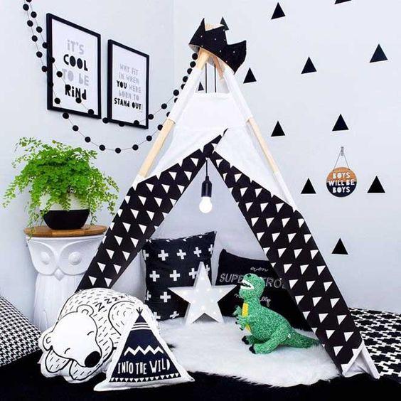 quarto infantil preto e branco