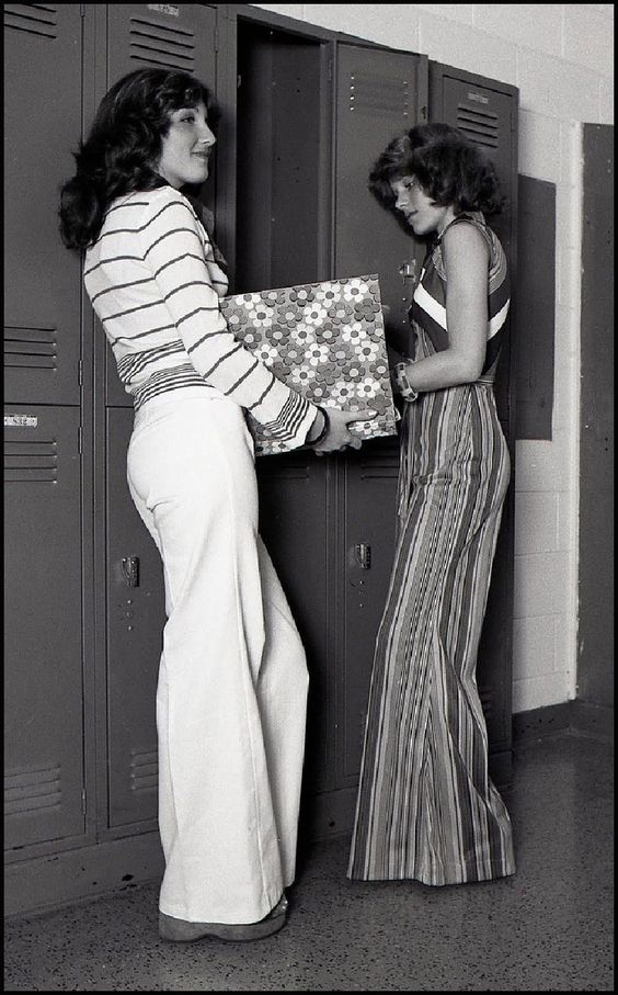 I remember how bell bottoms would get caught in the chain of your bicycle! Bummer
