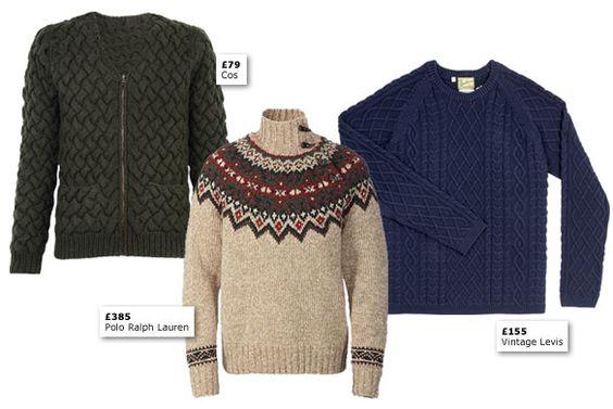 Men's chunky knits