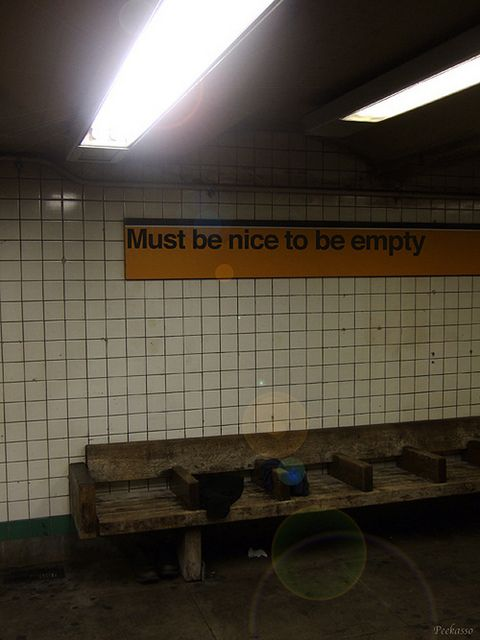 must be nice to be empty, schabrazze aka peekasso, via Flickr