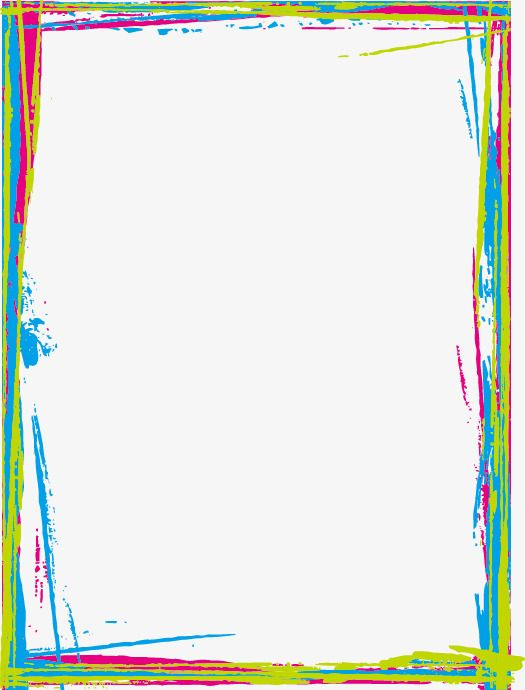 Colored Border Hand Painted Frame Graffiti Png And Vector With Transparent Background For Free Download Free Png Files Free Png Border