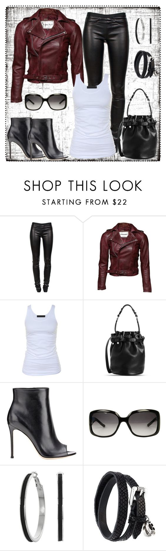 """""""Untitled #1124"""" by gallant81 ❤ liked on Polyvore featuring Helmut Lang, Tusnelda Bloch, Alexander Wang, Gianvito Rossi, Gucci, GUESS and Diesel"""
