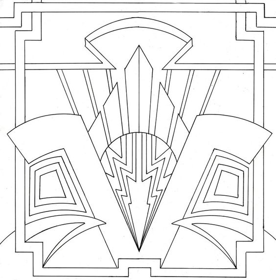 Art Deco template | Iris Folding & templates | Pinterest | Art ...