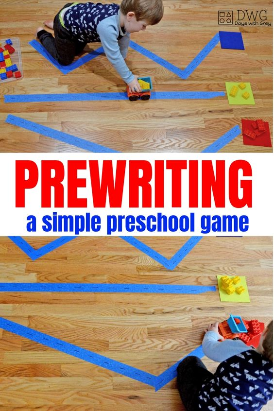 Prewriting activities for preschool