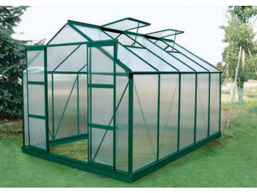 Serre De Jardin En Polycarbonate De 9 M Corolle Ii Avec Embase Anthracite Serre Jardin Jardins Serre Polycarbonate