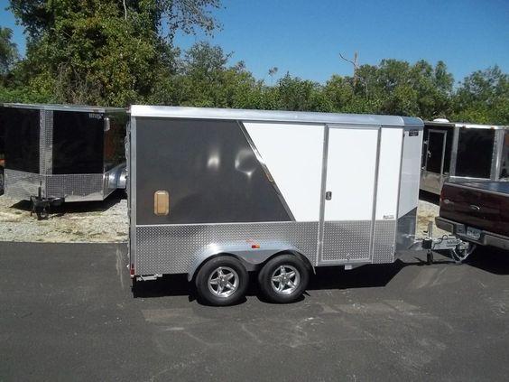2 tone aluma AE712TAM enclosed trailer all aluminunm 7 x 12