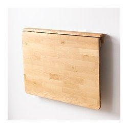 Going to use this as a desk for my daughter. Less furniture taking up space, and she can fold it down when not in use.   NORBO Wall-mounted drop-leaf table, birch - IKEA