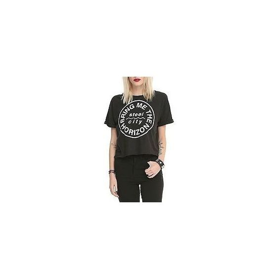 Bring Me The Horizon Steel City Crop Top 2XL   Hot Topic (115 BRL) ❤ liked on Polyvore featuring tops, cropped tops and cut off tops
