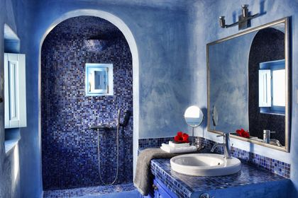Total-Blue-Mosaic-Stucco-Dome-Hotel-Bathroom-Interior-Designer-Imerovigli-Santorini-Greece