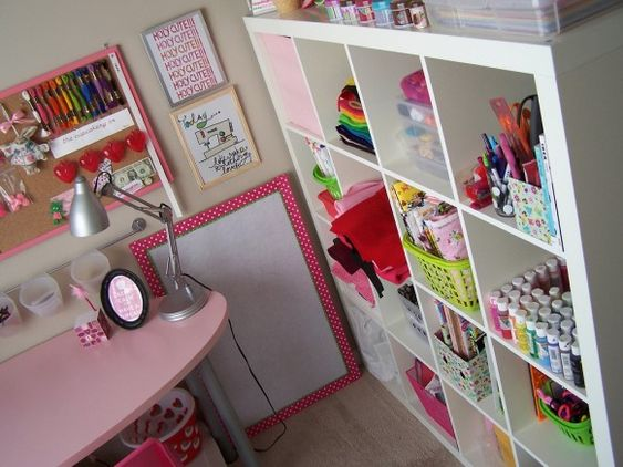 mmmm colour. LOVE the corkboard.: Sewing Room, Craft Space, Home Office, Storage Idea, Office Design, Craftroom