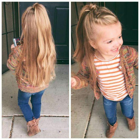 Half up half down hair little girl hairstyles:
