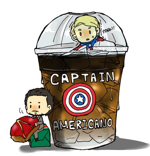 Wat. Steve: Tony! No! Let me out!    I feel like a capsicle!    OH SO PUNNY.