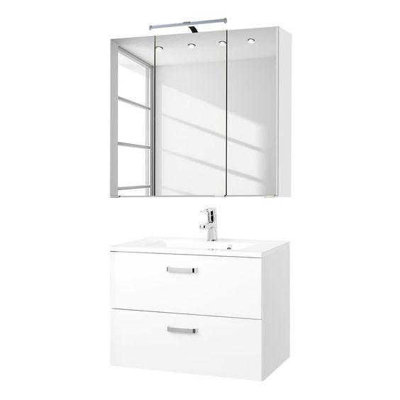Waschtisch-Set Zeehan (2-teilig) - Weiß - 60 cm