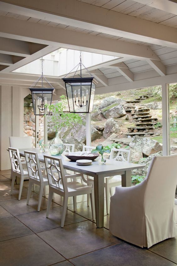 Lake House Dining Room - like being outdoors