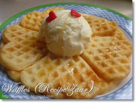 Made these homemade waffels a few times...THEY ARE THE BEST!  I will NEVER buy mix at the store again!