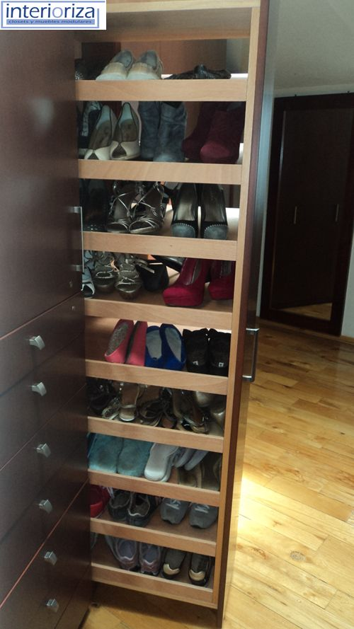 17 best images about vertical shoe rack storage ideas for Zapateras modernas para closet