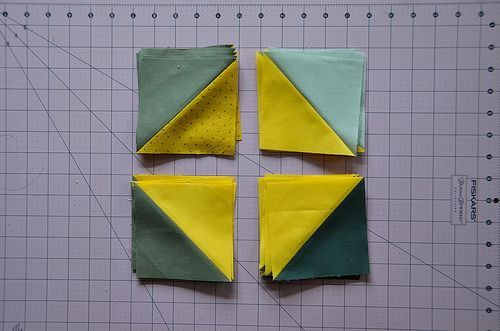 How To: Make 8 Half Square Triangles at a Time