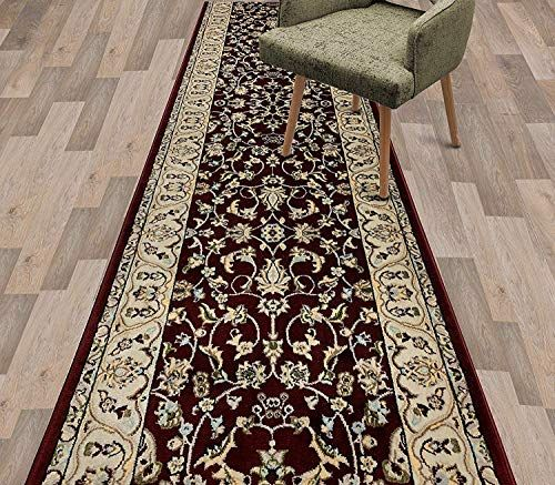 Custom Size Traditional Classic Oriental Hallway Stair Runner Rug Carpet With Jute Backing 27 Inch Wide X Your Choice O In 2020 Rugs On Carpet Stair Runner Rug Runner