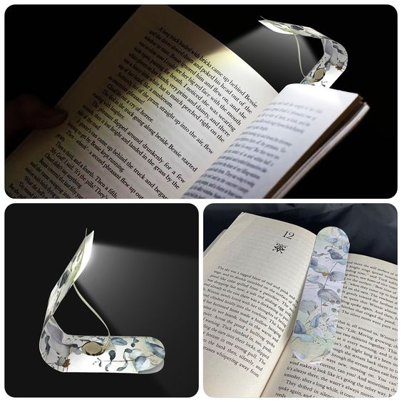 With this Convertible Bookmark Light You will get:  1 package that includes 1 book LED reading light, 1 button cell battery, 1  bookmark covers (Botanical or Blank Do it Your Self) 1 instruction, This item is great for a gift and will help any reader.  Use for double design: Keep your place bookmark, and a LED light to illuminate your reading journey. It can be hands-free by placing the bookmark in the back end of the pages.  Glowing soft light to help you read the book at night in bed or as you