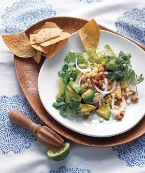 Southwestern Salad With Corn and Avocado