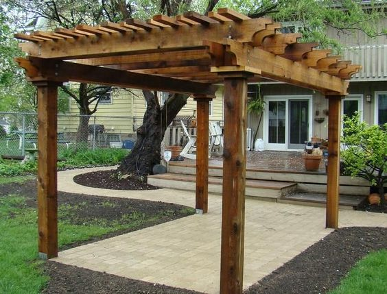 red cedar red and cedar pergola on pinterest. Black Bedroom Furniture Sets. Home Design Ideas