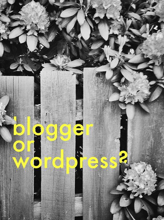 Blogging for Beginners // Pugly Pixel   What platform should I use between Blogger & WordPerfect?