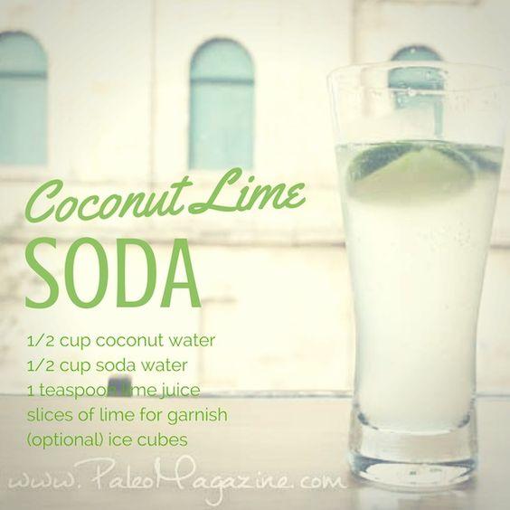 coconut lime soda - paleo drink recipes
