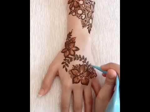 من اجمل نقشات الحناء Youtube Henna Hand Tattoo Hand Henna Henna