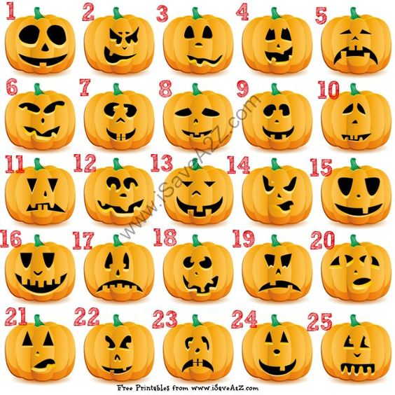 25 (Easy) Free Halloween Pumpkin Carving Templates - iSaveA2Z.com