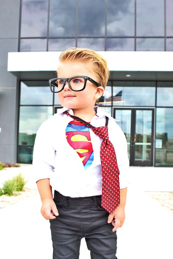 """""""Fashion may not change the world, but the boys who wear it will."""" - @rowenchristian  MC: One of our fav lil' misters, Bronson @nicolemaughan. 🌟❤️ #happyhalloween #kidsfashion #superman"""