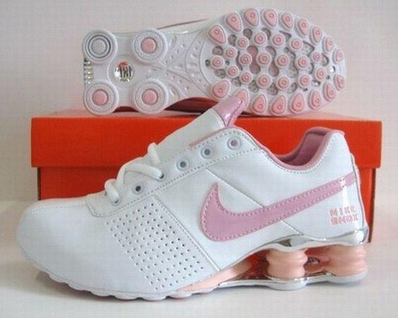 nouveaux coups de pied Nike - Nike Shox NZ White Pink Swoosh Womens Shoes#Air Shox Womens#sale ...