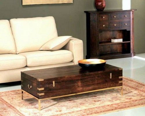 Wooden chest coffee table. Army foot locker???