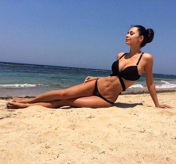 Viki & Helga & Galina & Others Beauty — viki-helga-galina-others:   Helga on The beach