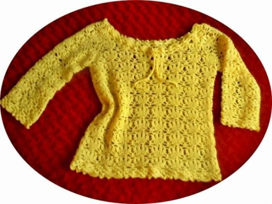 jersey hecho a mano a ganchillo