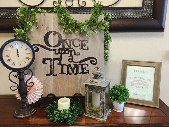 Once Upon A Time vintage storybook baby shower:
