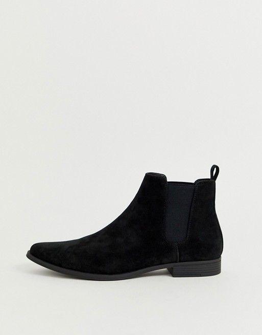 ASOS DESIGN chelsea boots in black faux