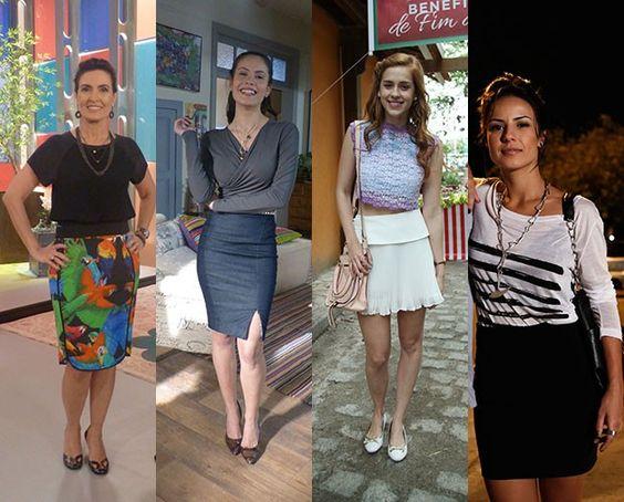 Saias entram com tudo no guarda-roupa neste verão! Confira o que vem fazendo a cabeça das mulheres da TV e entre na tendência da estação mais quente do ano ♥