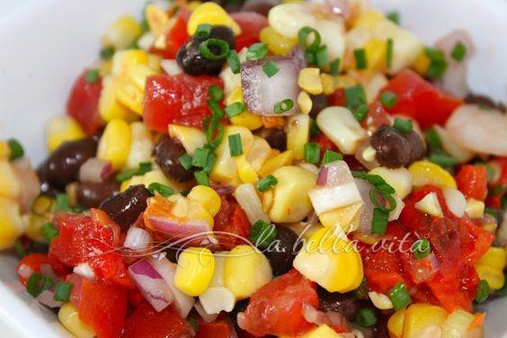Corn, Black Bean and Avocado Salad with Cilantro Viniagrette | La ...