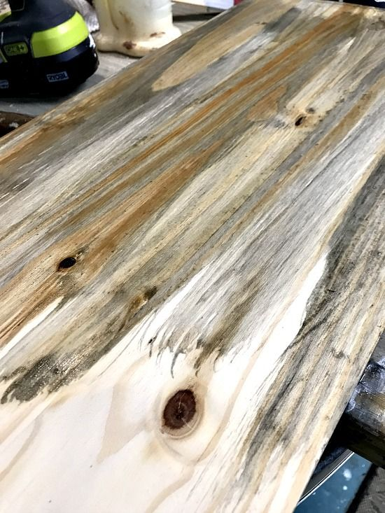 Rustic Wooden Beach Tray And Weather Wash Stain Staining Pine Wood Staining Wood Weather Wood Diy