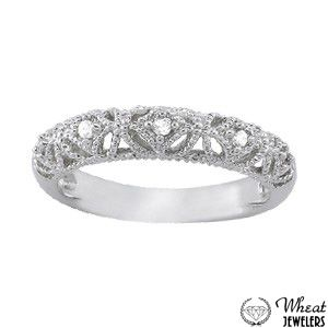 Antique Style Filigree Wedding Band available at Wheat Jewelers