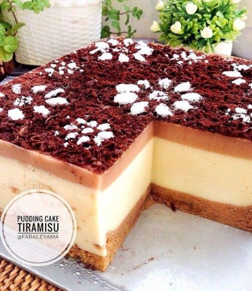 Pudding Cake Tiramisu Kue Lezat Resep Puding