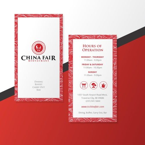 Design A Traditional Chinese Business Card For Chinese Restaurant Business Card Contest A Chinese Business Card Restaurant Business Cards Business Card Design