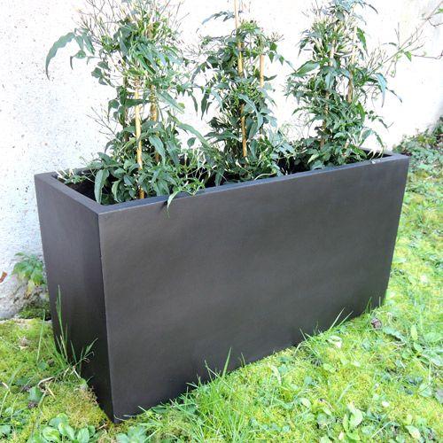 Jardinière en fiberstone noir mat (3 tailles) decoclico Jardin : Decoclico