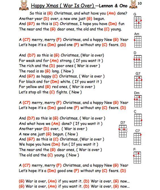 Happy Xmas (War Is Over) – John Lennon ukulele chords | Guitar ...