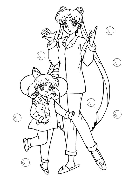 sailor moon coloring page - Google Search