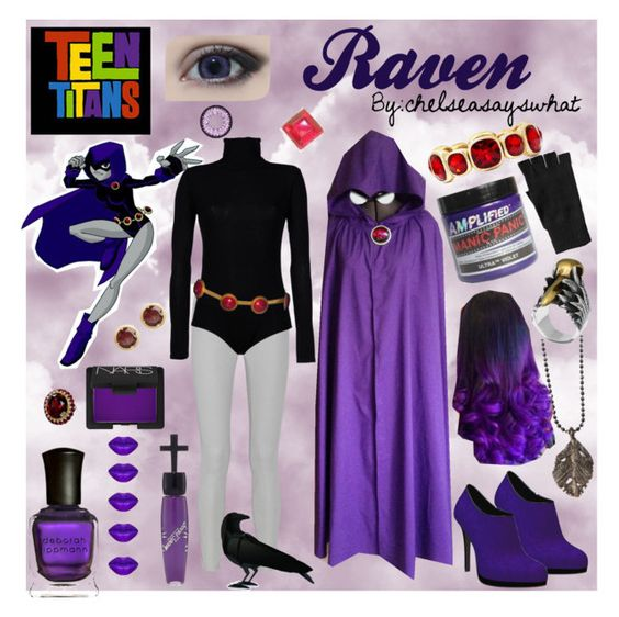 """""""Raven - Teen Titans"""" by chelseasayswhat on Polyvore"""
