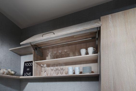 Küchen-Hängeschrank B1 Bulthaup mit Schiebetüre White Living