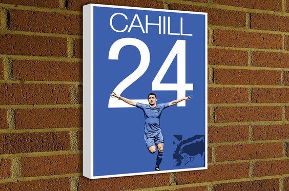 Gary Cahill Canvas Print - English Soccer Poster #soccer #wallart #decor #canvas #art #poster #graphicdesign #soccerart #football #futbol #etsy #g17 #graphics17 #etsy #chelsea #cfc #cahill #bpl #premierleague