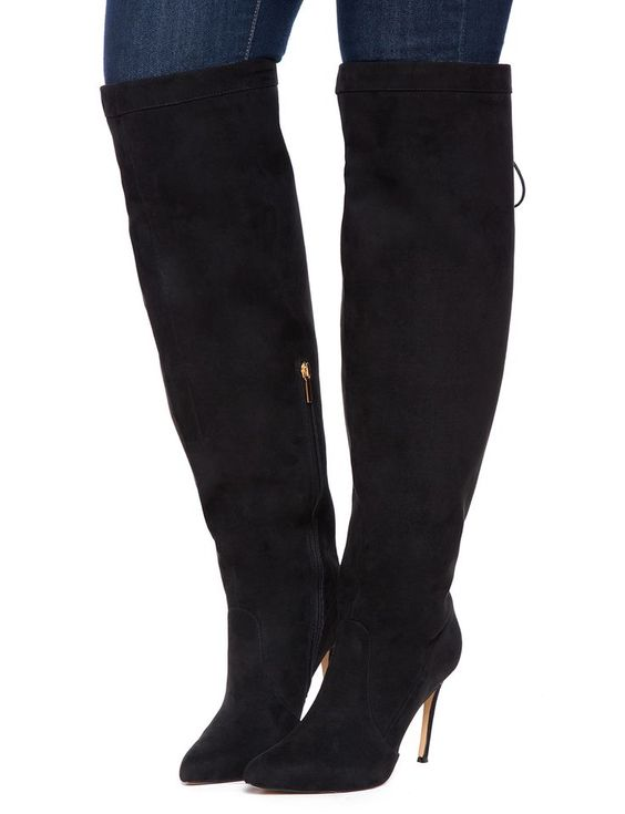 Wide Over The Knee Boots - Cr Boot